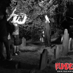 ANS Studios shooting Be My Ghoul in the graveyard.