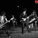 The Undead (Paul Mauled, Boris, Bobby Steele & Diana Steele) during the Be My Ghoul shoot.