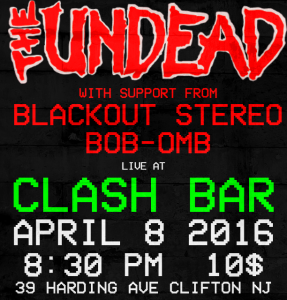 APRIL 8 - CLASH BAR (NJ)